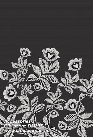 Csipke,különleges motívumos,rajzolt,textilmintás,virágmintás,fehér,fekete,gyengén mosható,vlies poszter, fotótapéta