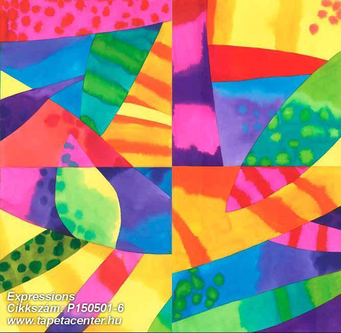 Absztrakt,geometriai mintás,gyerek,konyha-fürdőszobai,különleges motívumos,rajzolt,retro,kék,pink-rózsaszín,sárga,zöld,gyengén mosható,vlies poszter, fotótapéta