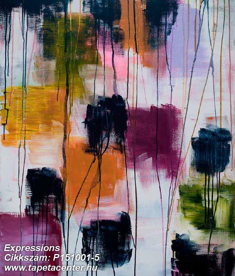 Absztrakt,különleges motívumos,rajzolt,retro,fehér,fekete,lila,narancs-terrakotta,zöld,gyengén mosható,vlies poszter, fotótapéta