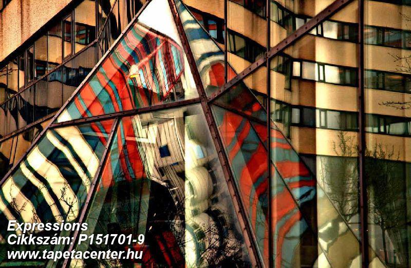 3d hatású,absztrakt,geometriai mintás,különleges motívumos,retro,barna,bézs-drapp,fekete,kék,narancs-terrakotta,piros-bordó,gyengén mosható,vlies poszter, fotótapéta