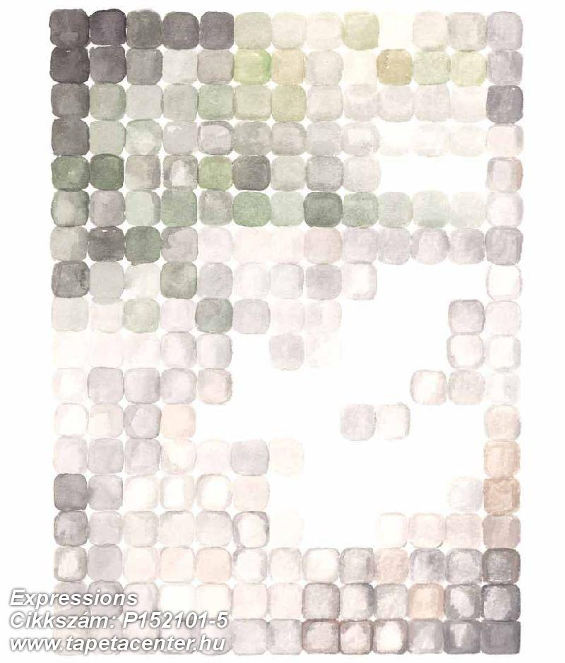 Absztrakt,geometriai mintás,kockás,rajzolt,retro,barna,bézs-drapp,fehér,szürke,zöld,gyengén mosható,vlies poszter, fotótapéta
