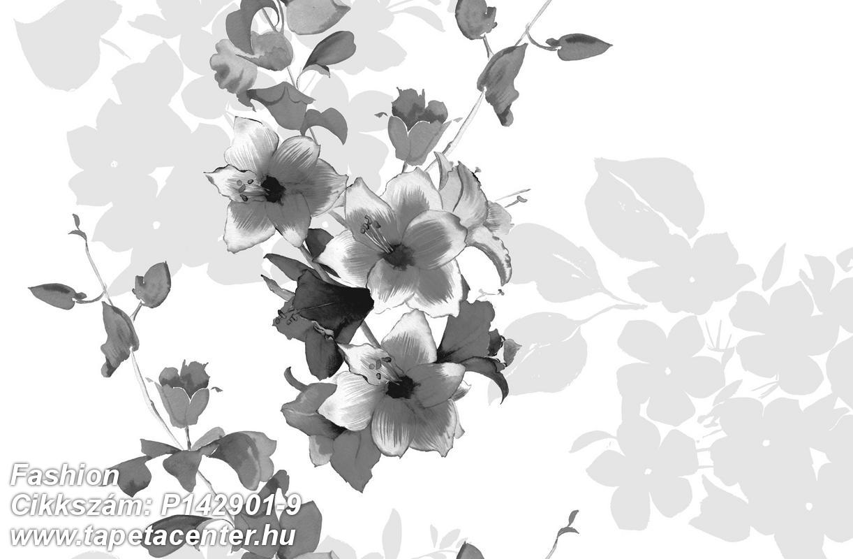 Konyha-fürdőszobai,különleges motívumos,rajzolt,retro,természeti mintás,virágmintás,fehér,fekete,gyengén mosható,vlies poszter, fotótapéta