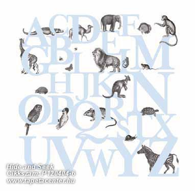 állatok,feliratos-számos,gyerek,rajzolt,retro,természeti mintás,fehér,fekete,kék,gyengén mosható,vlies poszter, fotótapéta