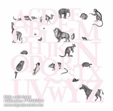 állatok,feliratos-számos,gyerek,rajzolt,retro,fehér,fekete,pink-rózsaszín,gyengén mosható,vlies poszter, fotótapéta