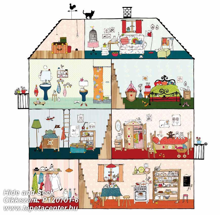 Gyerek,különleges motívumos,rajzolt,barna,fehér,kék,narancs-terrakotta,pink-rózsaszín,piros-bordó,zöld,gyengén mosható,vlies poszter, fotótapéta