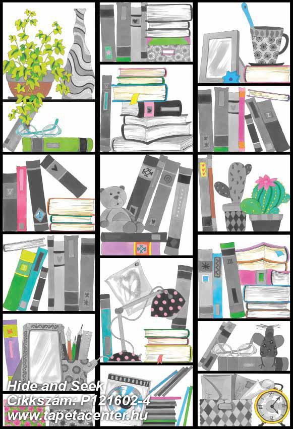 Geometriai mintás,gyerek,rajzolt,fehér,fekete,pink-rózsaszín,zöld,gyengén mosható,vlies poszter, fotótapéta