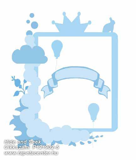 Gyerek,konyha-fürdőszobai,különleges motívumos,rajzolt,fehér,kék,gyengén mosható,vlies poszter, fotótapéta