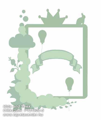 Gyerek,különleges motívumos,rajzolt,fehér,zöld,gyengén mosható,vlies poszter, fotótapéta