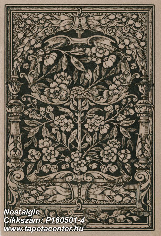 Fa hatású-fa mintás,különleges motívumos,rajzolt,természeti mintás,textil hatású,bézs-drapp,fekete,gyengén mosható,vlies poszter, fotótapéta