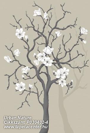 Fa hatású-fa mintás,retro,virágmintás,barna,bézs-drapp,fehér,gyengén mosható,vlies poszter, fotótapéta