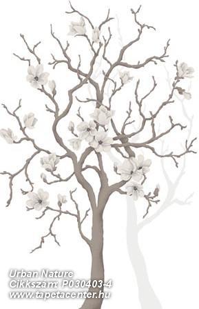 Fa hatású-fa mintás,rajzolt,retro,virágmintás,barna,fehér,szürke,gyengén mosható,vlies poszter, fotótapéta