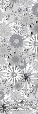 Rajzolt,retro,természeti mintás,virágmintás,fehér,fekete,szürke,gyengén mosható,vlies poszter, fotótapéta