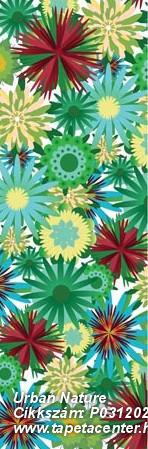 Különleges motívumos,természeti mintás,virágmintás,kék,piros-bordó,sárga,zöld,gyengén mosható,vlies poszter, fotótapéta
