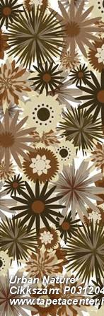 Rajzolt,retro,virágmintás,barna,bézs-drapp,fehér,fekete,gyengén mosható,vlies poszter, fotótapéta